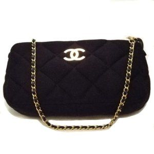Chanel Rare '06 Quilted Jersey Clutch Purse